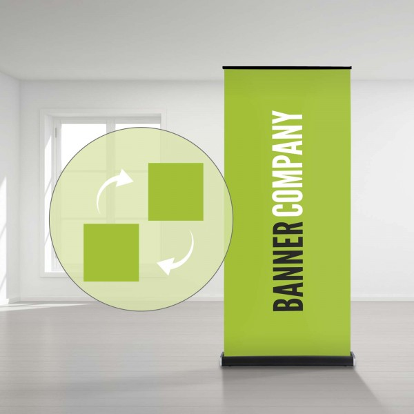 "Roll-Up Display ""Titanium"" Austauschbanner"