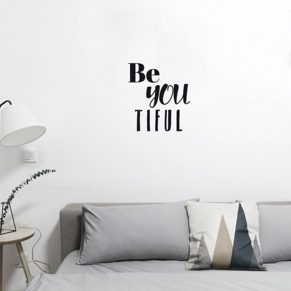 "Wandtattoo ""Be you tilful"" - beispielhaft"